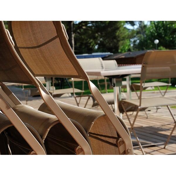 Sada 2 světle béžových skládacích židlí Fermob Dune