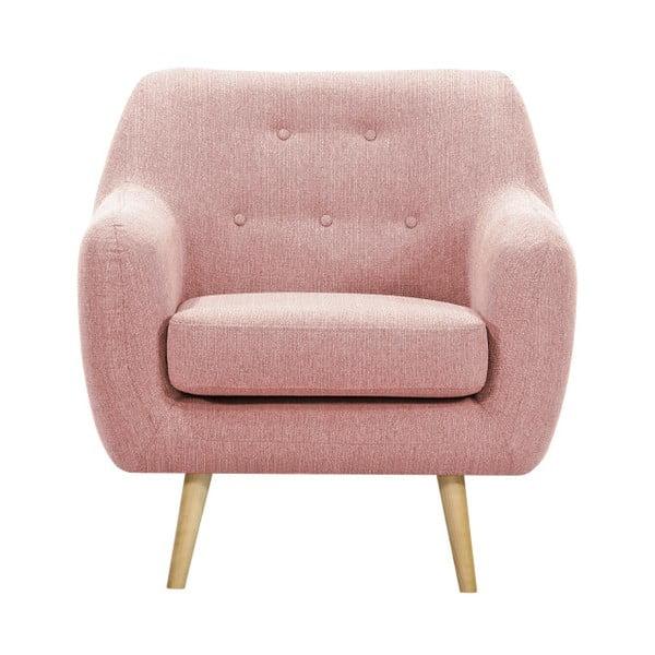 Jasnoróżowy fotel Vivonita Lila