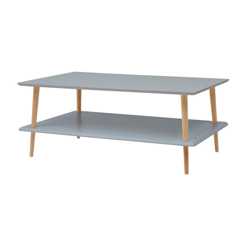 Tmavě šedý konferenční stolek se sníženou spodní deskou Ragaba KORO