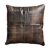 Pernă din piele Fuhrhome Cairo, 45 x 45 cm, maro