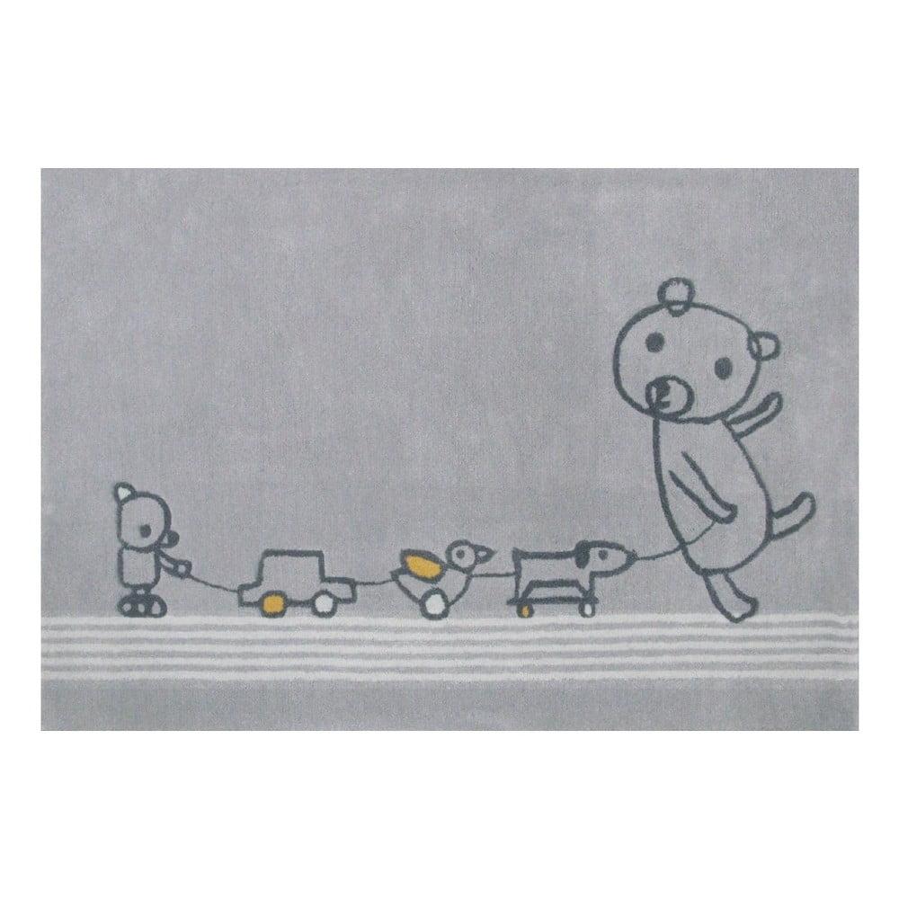 Šedý koberec Art For Kids Paintclub, 100 x 150 cm