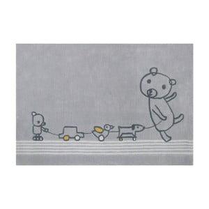 Šedý koberec Art For Kids Paintclub, 100x150cm