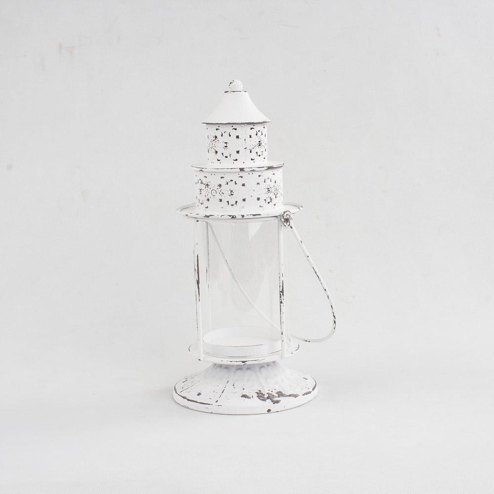 Bílá kovová lucerna Dakls Athena