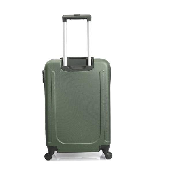 Tmavě zelený cestovní kufr na kolečkách Hero Ioulia, 37 l
