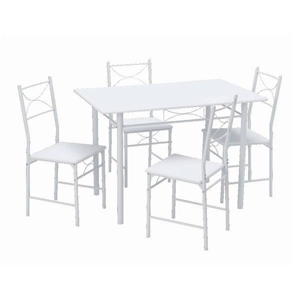 Stůl se 4 židlemi Function White