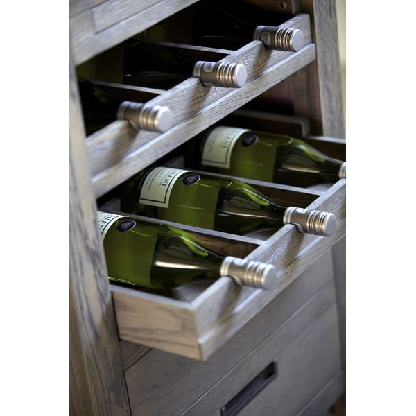 Skříňka na víno Cross Smoked, 64x86x60 cm