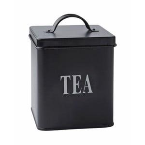 Plechová dóza Tea Black, 14x11,5 cm