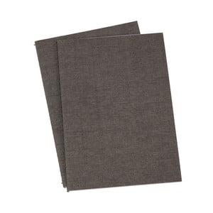 Sada 2 tmavě šedých poznámkových bloků Biso, 40 stran