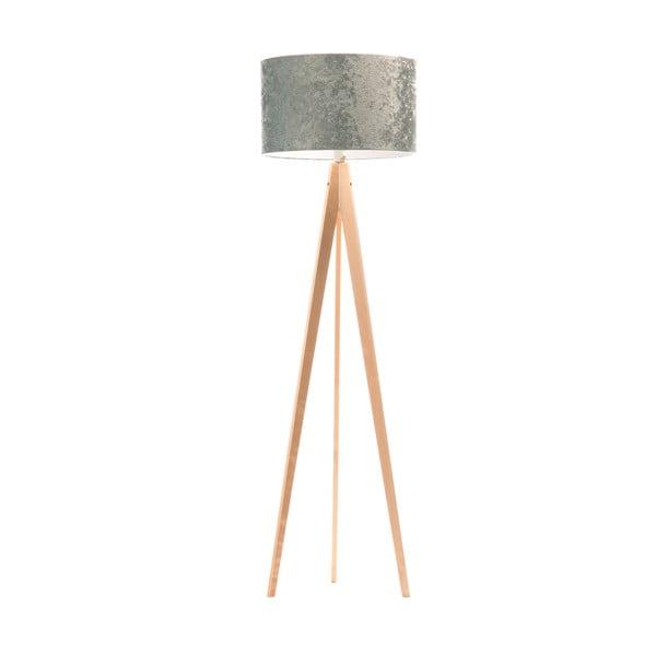 Stojací lampa Artist Celestia Blue/Birch, 150x42 cm