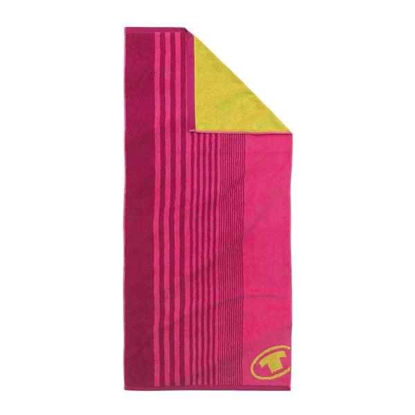 Ručník Tom Tailor Sport Pink, 70x150 cm
