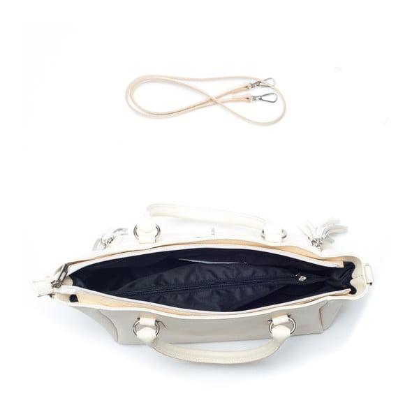 Kožená kabelka Mangotti 1167, béžová