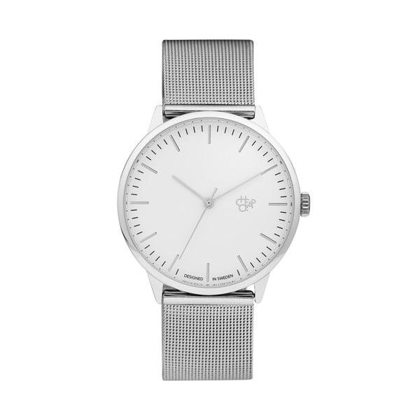 Zegarek ze srebrnym paskiem i z białym cyferblatem CHPO Nando