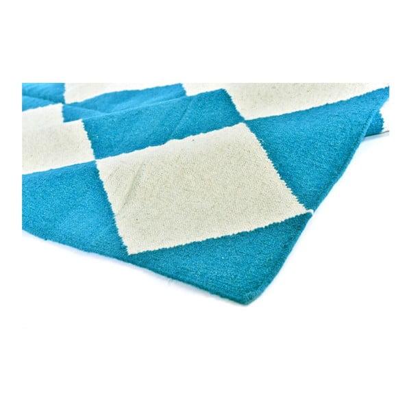Vlněný koberec Geometry Classic Turquoise, 160x230 cm