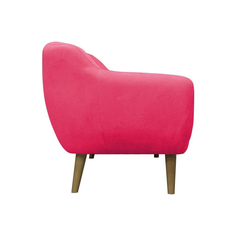 Růžové křeslo se světlými nohami Mazzini Sofas Sardaigne