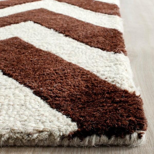 Vlněný koberec Safavieh Stella, 152x243 cm, hnědý