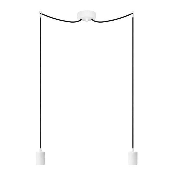 Dvojité závěsné kabely Cero, bílá/černá/bílá