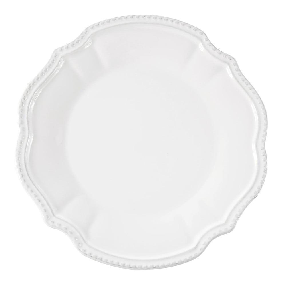 Sada 6 bílých talířů Côté Table Vallauris, ⌀27,5 cm