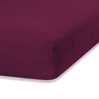 Cearceaf elastic AmeliaHome Ruby, 200 x 160-180 cm, violet de la AmeliaHome