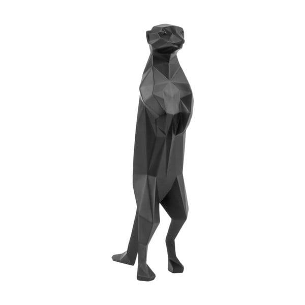 Czarna matowa figurka PT LIVING Origami Meerkat