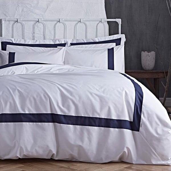 Modro-bílé povlečení Bianca Tailored, 200x200cm