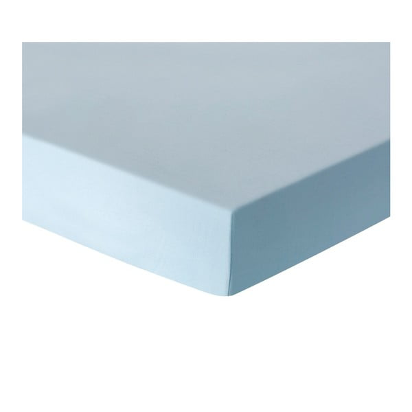 Baby Lilen Blue kék egyszemélyes lepedő, 100 x 175 cm