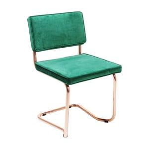 Zelená židle Kare Design Cantilever