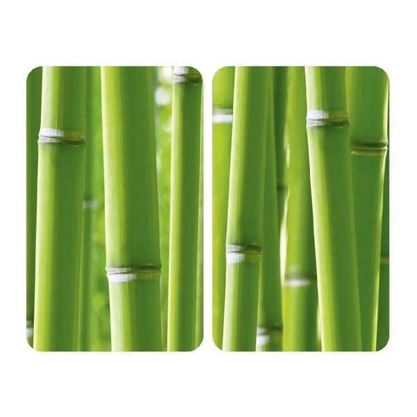 Skleněný kryt na sporák Bamboo, 2 ks