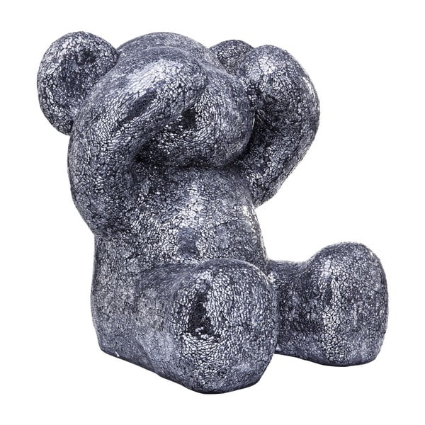 Statuetă decorativă în formă de urs Kare Design, argintiu