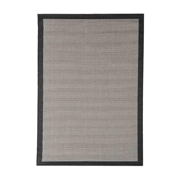 Černý venkovní koberec Floorita Chrome, 200 x 290 cm
