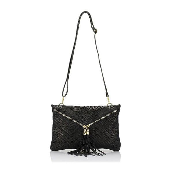 Černá kožená kabelka Giulia Massari Erinn
