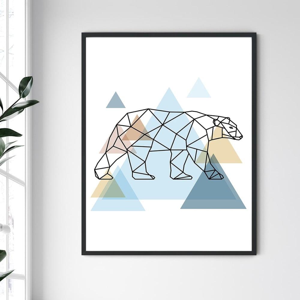 Nástěnný obraz v rámu North Carolina Frame Bear II, 30 x 40 cm