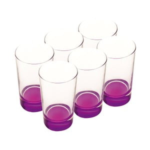 Sada skleniček, 460 ml, fialové