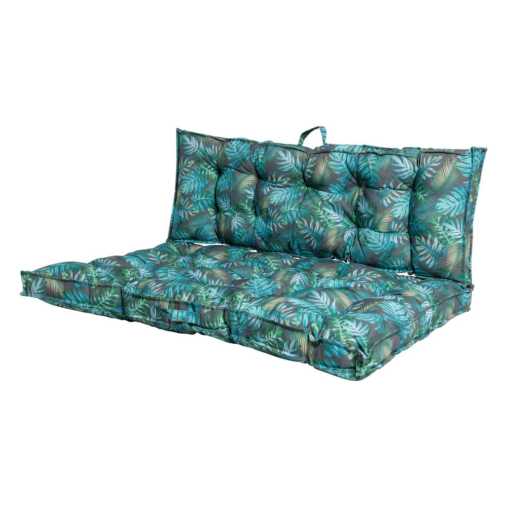 Sada 2 modrých vzorovaných venkovních matrací Ego Dekor Pallet, 80 x 120 x 8 cm a 40 x 120 x 8 cm