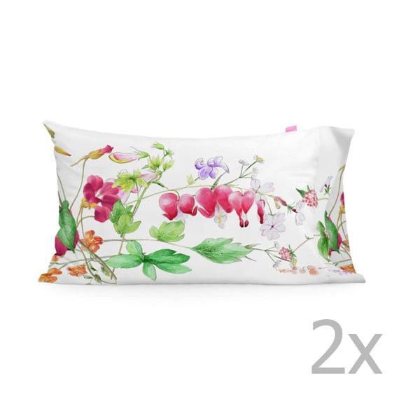 Sada 2 bavlněných povlaků na polštář Happy Friday The Florist,50x80cm
