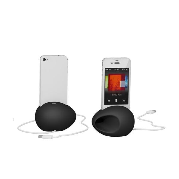 Stojan a zesilovač iEgg na iPhone 4/4S, černý