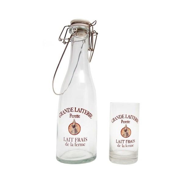 Bandaska a sklenice Grande Laiterie Perette