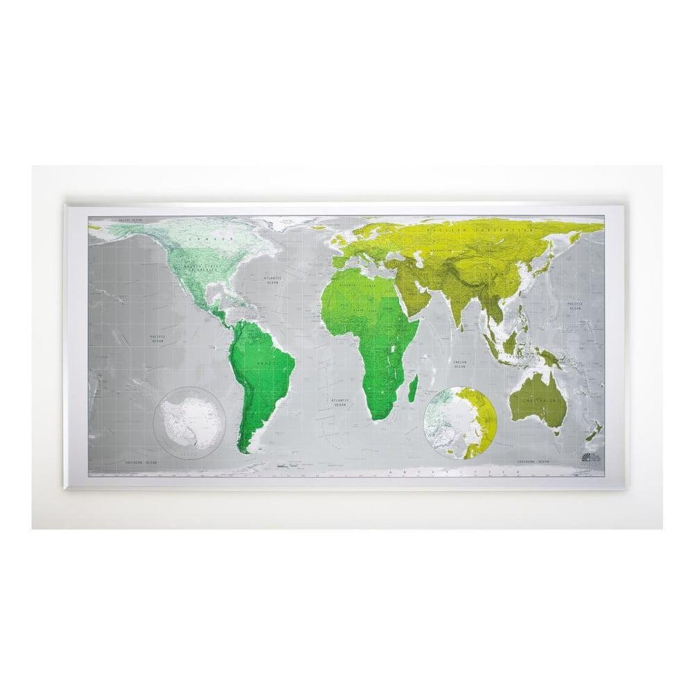 Magnetická mapa světa Huge Future Map, 196 x 100 cm