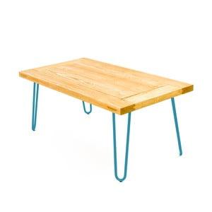 Konferenční stolek Table 100x60 cm, modré nohy