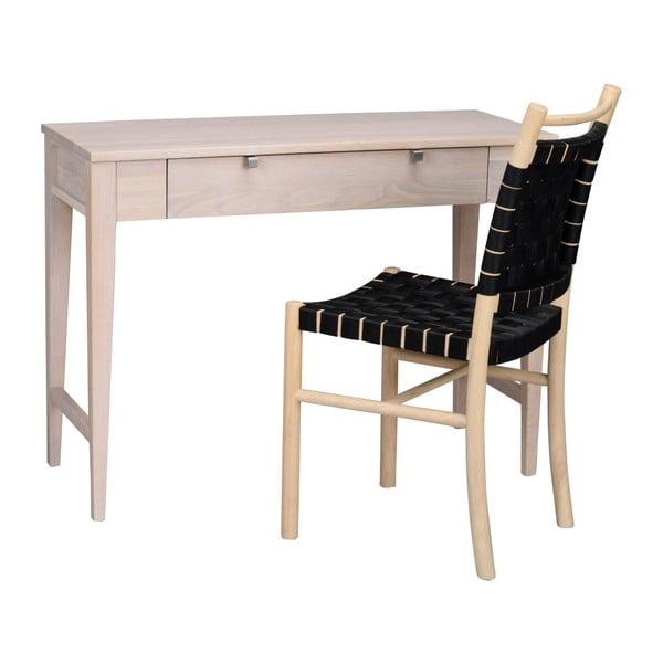 Masă cu sertar din lemn de stejar, mat,  Folke Fulla