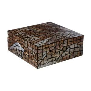Úložný box s lasturovými detaily Premier Housewares Crackle Mosaic