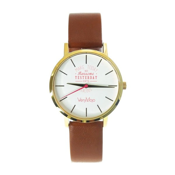 Hnědé hodinky VeryMojo Make Today