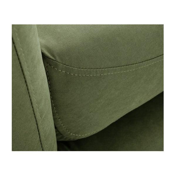 Canapea cu șezlong pe partea stângă Scandi by Stella Cadente Maison Constellation, verde