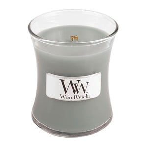 Lumânare parfumată  WoodWick, aromă de chihlimbar, vetiver și mosc, 20ore