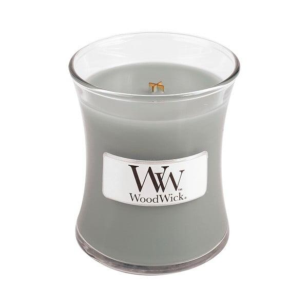 Svíčka s vůní jantaru, vetiveru a pižma WoodWick Oheň v krbu, dobahoření20hodin