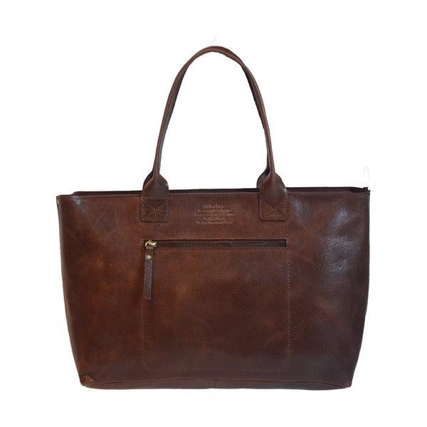 Kožená vintage kabelka Madam Rose, tmavá