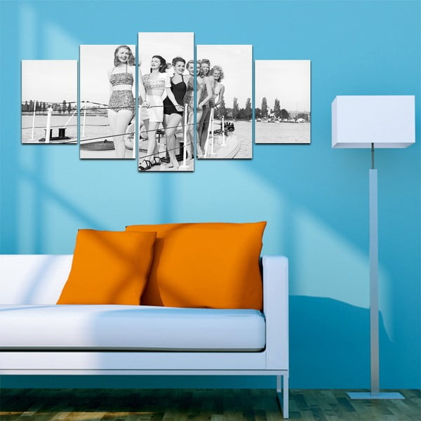 Vícedílný obraz Black&White no. 11, 100x50 cm