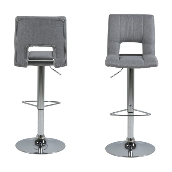 Sada 2 světle šedých barových židlí Actona Wilma Barstool
