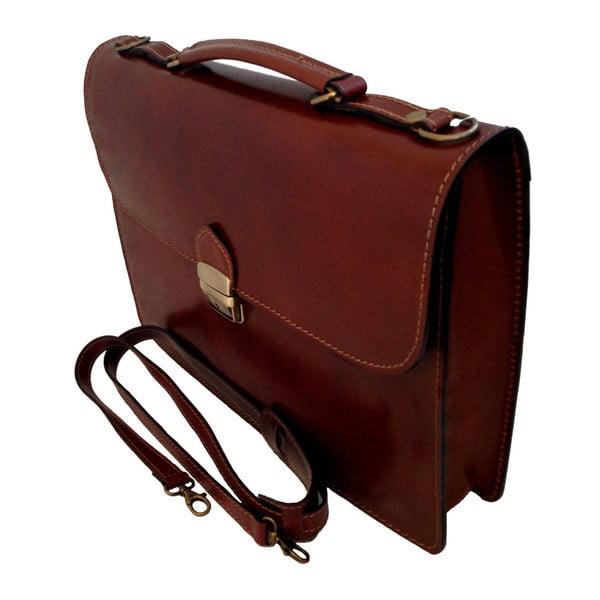 Hnědá kožená taška Irene