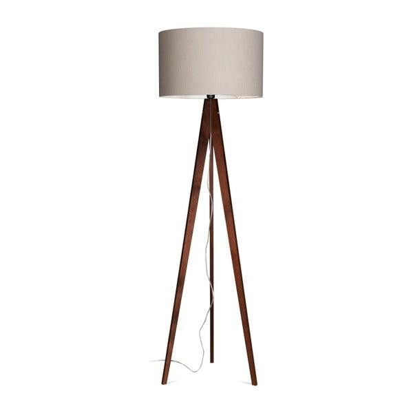 Šedá  stojací lampa 4room Artist, hnědá lakovaná bříza, 150 cm