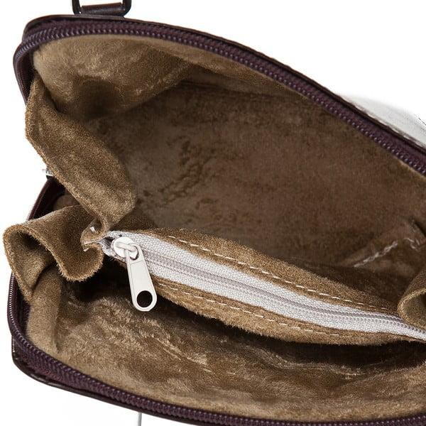 Tmavě hnědá kožená kabelka Giorgio Costa Jacintha